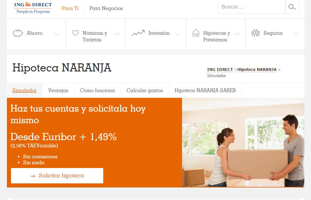 Hipoteca Naranja Variable de ING