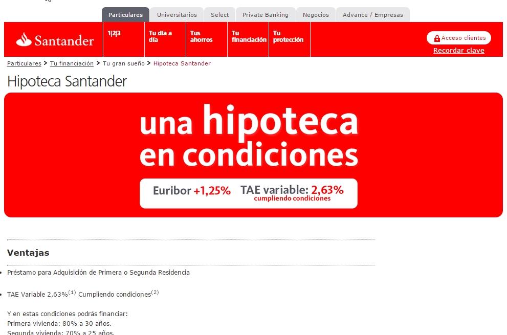 Tu tienda de pr stamos online for Hipoteca fija santander