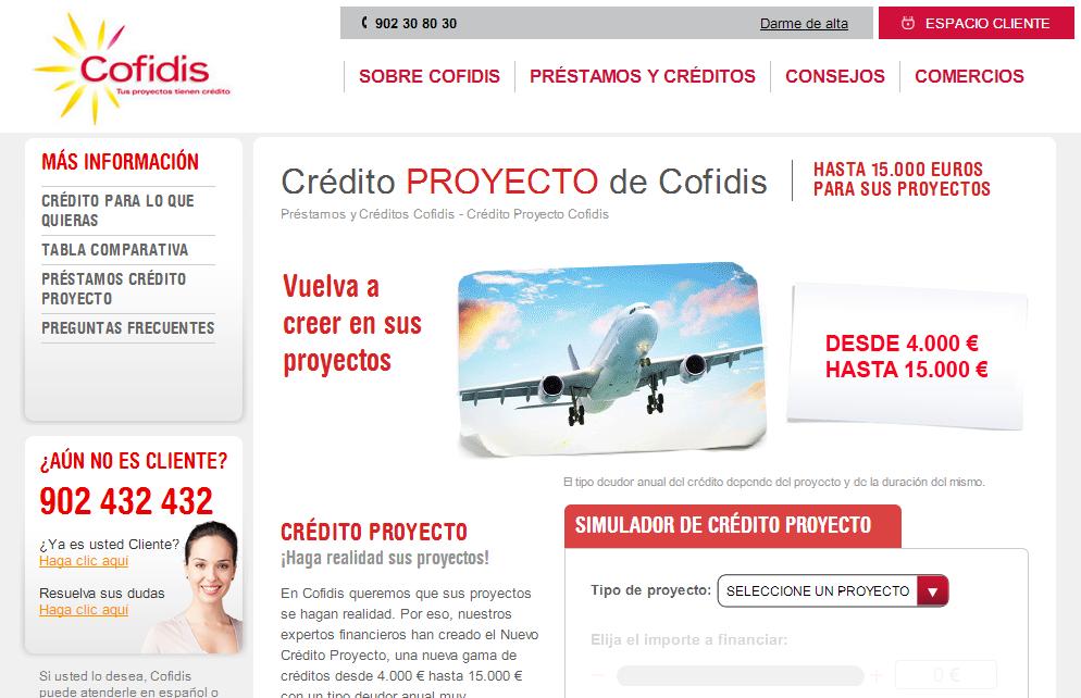 Crédito Proyecto Cofidis