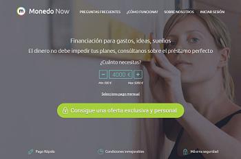 Crédito rápido Monedo Now
