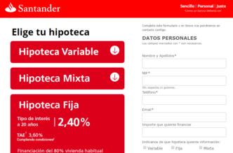 Hipoteca Fija Santander