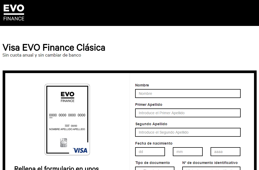 Tarjeta EVO Finance Clásica