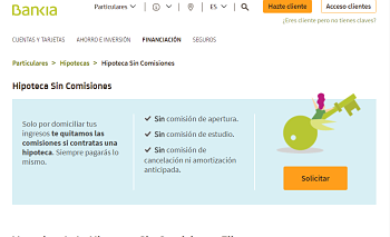 Hipoteca Fija Bankia Sin Comisiones
