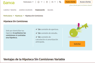 Logo de Hipoteca Variable Bankia Sin Comisiones