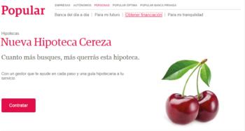 Logo de Hipoteca Cereza Popular