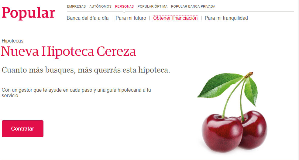 Hipoteca Cereza Popular